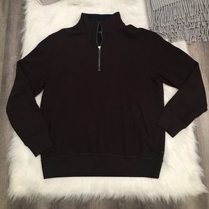 Nautica Brown 1/4 Zip Pullover Long Sleeve Sweater